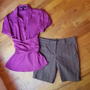 BCBG Tops - BCBG Short Sleeve Blouse